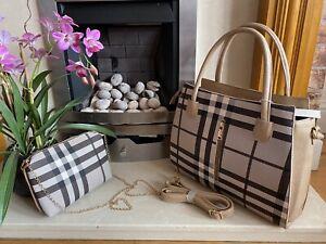 Ladies Handbag Shoulder Bag Women Bag Faux Leather large Tote Bag Designer Brown