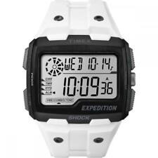 Orologio Uomo TIMEX GRID SHOCK TW4B00400 Silicone Bianco Chrono Timer Alarm