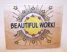 New 516E All Night Media Wood Rubber Stamp Beautiful Work! Sun, Rays & Star