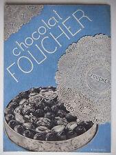 PUBLICITÉ FLYER 1932 CHOCOLAT FOUCHER SAC DANSEUSE ASTREE CARTON - R.DARRASSE