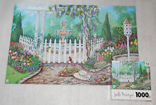 Spring Garden Gate Jigsaw Puzzle 1000 Pieces 28x19 Joelle McIntyre Sure-Lox