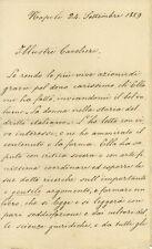Lettera Autografo Onorevole Americo De Germano Ferrigni Docente Napoli 1889