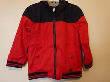 Tokyo Laundry Kids Lined Hooded Jacket Age 9-10 Years BNWT Red/Navy Uk Freepost