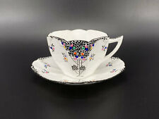 Shelley Queen Anne 11575 Tea Cup and Saucer Set Bone China England Rare