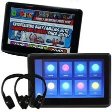 "[PAIR] Autotain EDGE 10"" Active Headrest Monitor DVD Players Slim [TOUCH SCREEN]"