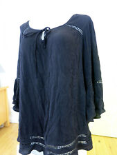 AUTOGRAPH SIZE 18 BLACK PEASANT TOP WITH LACE DETAIL,    BNWT