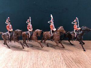 Britains: Repainted Hussars. Post War, c1950s
