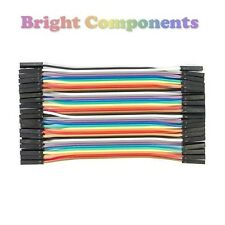 40pcs Dupont Jumper Ribbon Cable : 10cm : Female-Female : UK : 1st CLASS POST
