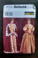 Butterick Historical Costume 6196 Victorian Royalty Queen Dress Robe 6-10 Uncut