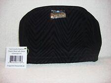 New Vera Bradley Travel Jewelry Organizer - Classic Black with Zebra Retails $48