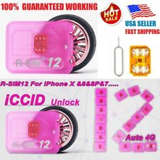 US 1X Red R-SIM12 For iPhoneX/8/8p7/6/6s/5 IOS11.x 10.x 4G Nano Unlock rsim Card