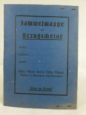 Otto Mess Sammelmappe für Bezugsscheine. ca.1920er Jahre ? // 3