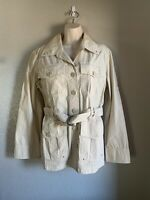 Women's Tommy Hilfiger Camp Shirt Jacket, Khaki, Large