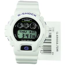 Casio G-Shock G-6900A-7 Tough Solar White Resin Digital Mens Watch G-6900