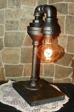 Retro Industrial Vintage Steampunk Waterspout style Lamp with  edison bulb