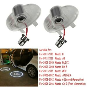 For Mazda 6 8 A8 CX-9 RX-8 ATENZA 2pcs LED Door Projector Shadow Lights No Drill