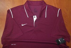 Nike Dri-Fit Performance Regular Fit Burgundy Polo Shirt XL ~NWT~