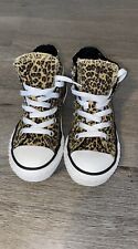 Girls Converse Size 12 Leopard Print Hi-tops Great condition