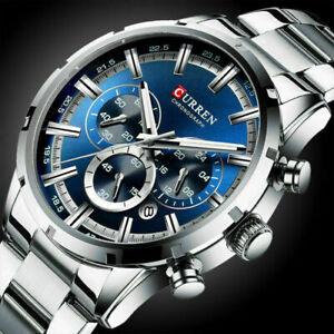 Luxury Mens Sports Watches Waterproof Chronograph Date Analog Quartz Wrist Watch