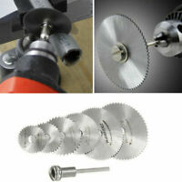 7X HSS Circular Saw Blade Set For Drill Dremel Rotary Tool Cutting Wheel Discs F
