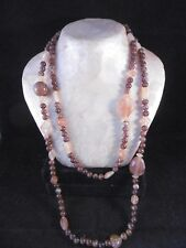 """Vintage European Bakelite faux Amber necklace. 52"""" Catalin, Galalith"""