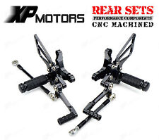 Ducati 848 EVO 1098 1198 RACING Rearsets Rear Sets Foot Control Pedals Pegs BLK