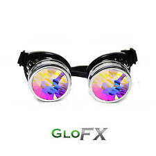 GloFX Kaleidoscope + Diffraction Padded Goggles Laser Etched Diffraction Glass