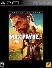 Max Payne 3 (Special Edition) Sony PlayStation 3, PS3 2012  *BRAND NEW*