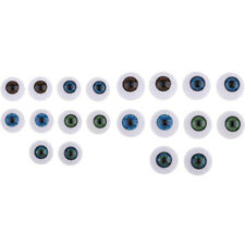 22mm Pabol Realistic Blue Ice Acrylic Half Round Doll Eyes