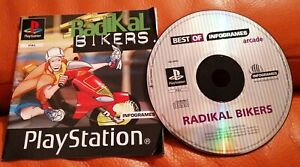 SONY PS1 GAME RADIKAL BIKERS DISC & MANUAL ONLY TESTED  PLAYSTATION 2 PSONE