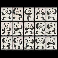 Maldives 2019 Wuhan World stamp expo Panda complete set of 15 stamps