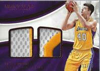 2016-17 Immaculate Collection Dual Materials Red #9 Ivica Zubac Jersey /25