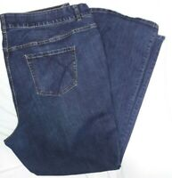Lane Bryant Dark Denim Blue Jeans Size 28 Long Boot Cut Tighter Tummy Technology