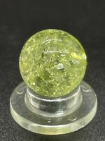 "Vitro Marble UV Active Yellow/Gold Crackle Glass Player size 0.551""Mint"