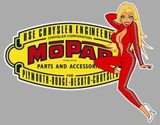 MOPAR left Pin Up gauche Sticker