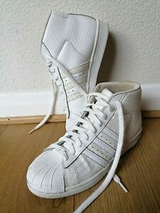 Women Adidas 3 Strips White High Tops Trainers Size UK 5