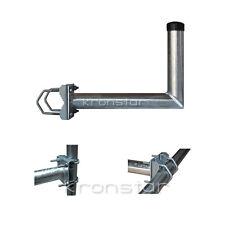 SAT Geländerhalterung 40cm Zahnschellen Balkonhalterung Schüssel Spiegel Antenne