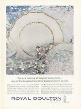 1961 Royal Doulton English Bone China Richelieu Pattern  PRINT AD