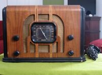 1936 Vintage Remler Tube Radio Art Deco Style Original Finish  - Needs Repair