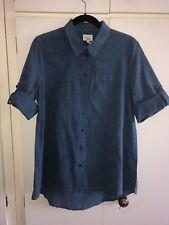 East John Lewis 100 Percent Cotton Fab India Blue Indigo Dye Shirt Top Size 14