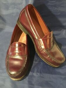 Men's Rockport Comfort DMX Burgundy Leather Loafers Size 9XW