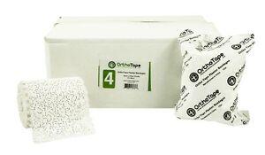 ORTHOTAPE PLASTER BANDAGE | GAUZE WRAP CLOTH | 4 INCH X 5 YARDS (12 ROLLS)