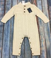 Baby Gap Boys 3-6 Month Cream White Cable Knit Sweater Romper. Nwt