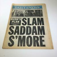 New York Daily News:Feb 12 1991, George Bush Plan, Slam Saddam Hussein More
