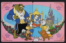 Germany 1992 Disney's Beauty & the Beast puzzle set of 4 mint 5,500 issued.