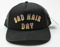 Crown Supply Co. Womens Bad Hair Day Trucker Snapback Hat Black One Size New