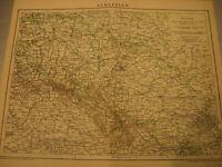 Antike Landkarte von 1900: Schlesien Karte mit Daten der Zeit-Antique map