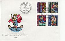 Schweiz  FDC Ersttagsbrief 1969 Kunst u. Kunsthandwerk  Mi. 902-5
