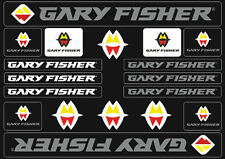 Gary Fisher Mountain Bicycle Frame Decals Stickers Adhesive Set Vinyl Gray