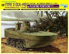 "1/35 Japanese IJN Type 2 ""KA-MI"" Amphibious Tank w/pontoons ~ Dragon DML #6712"